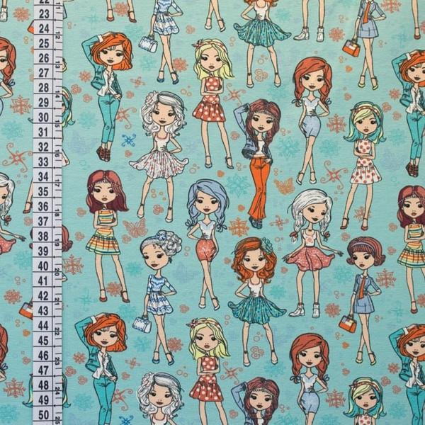 Jersey Mädchen Fashion Girls mint bunt - 2