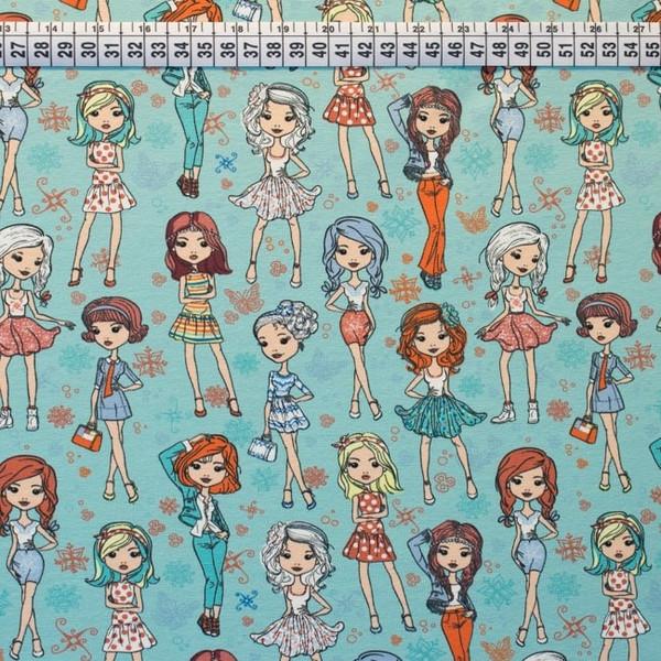 Jersey Mädchen Fashion Girls mint bunt - 3