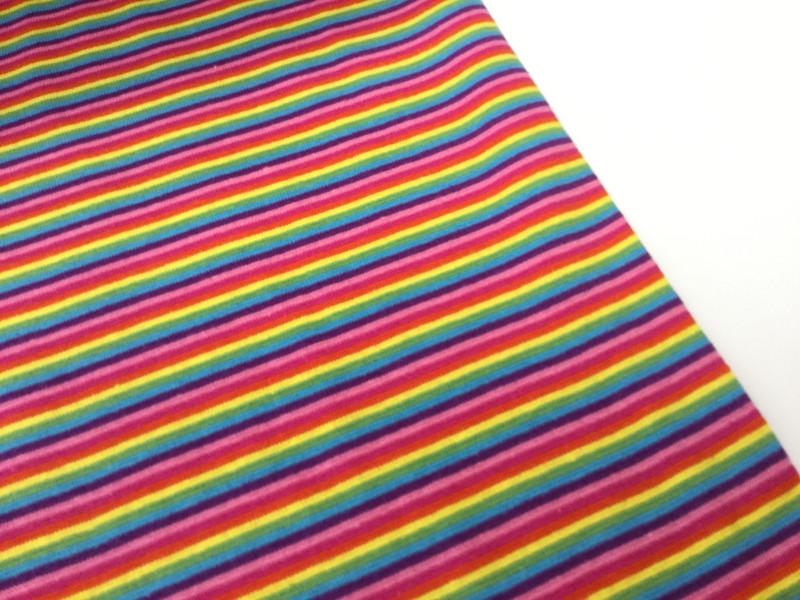 05m Ringel Bündchen glatt Regenbogen bunt - 1