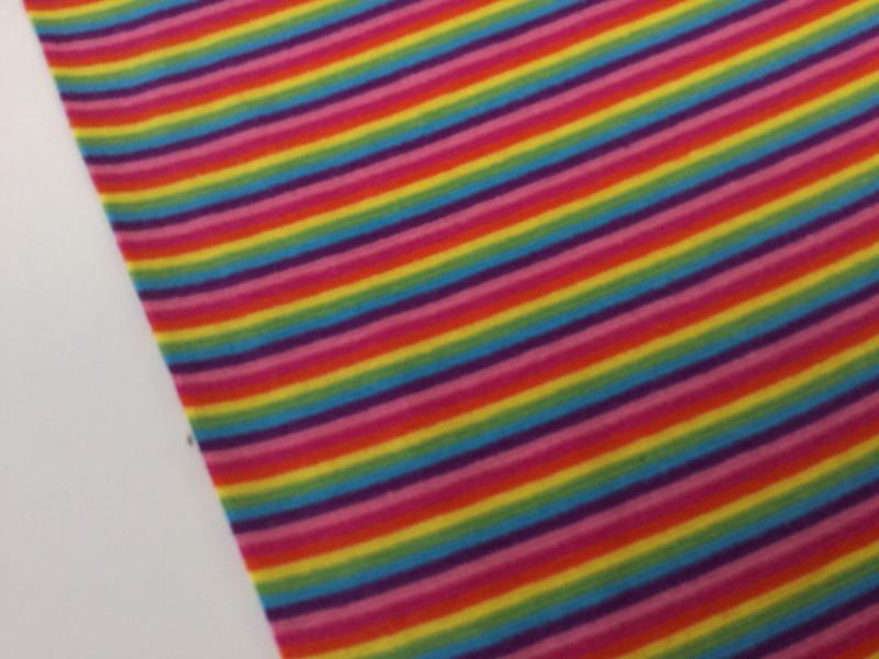 05m Ringel Bündchen glatt Regenbogen bunt - 2