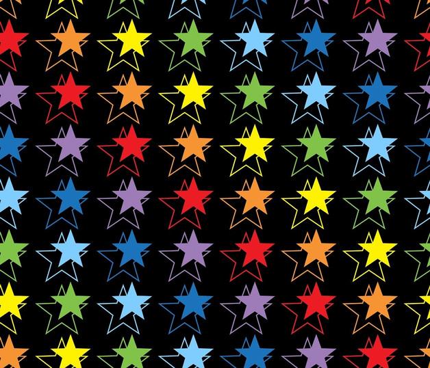0,5m Jersey Lilofant Sterne bunt regenbogen - 1
