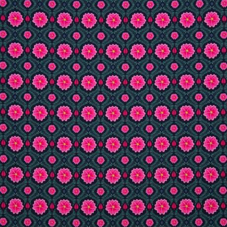 0,5m Jersey Orchid Bliss grau schwarz rosa pink