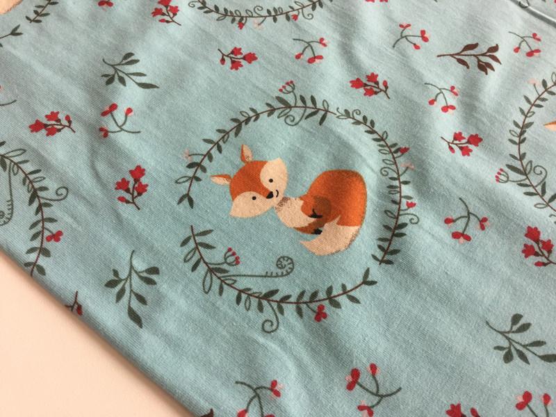 0 5m JerseyFuchs Fox helltuerkis aqua Ornamente