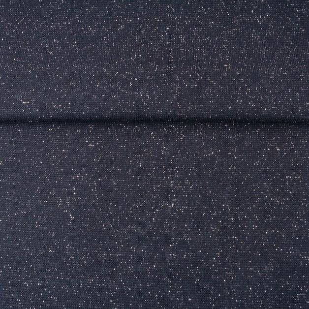 05m Bündchen Glitzer Lurex schwarz - 1