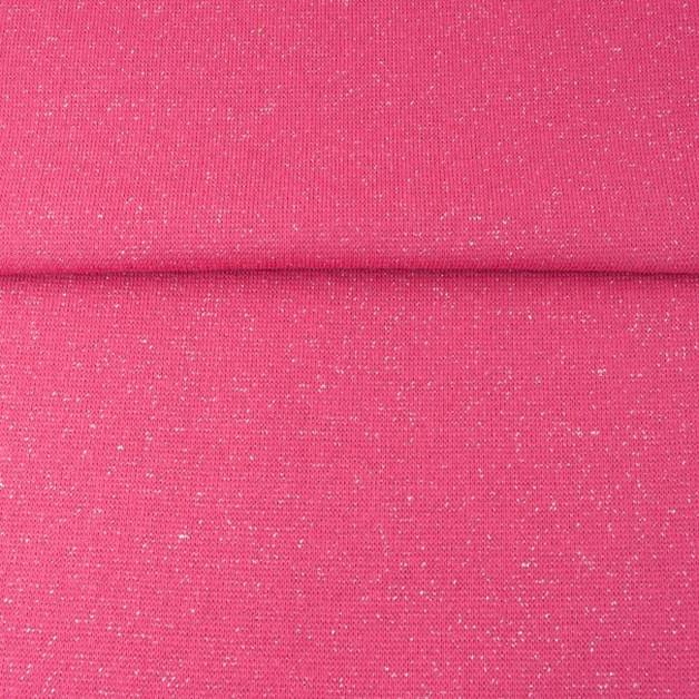 0 5m Buendchen Glitzer Lurex pink