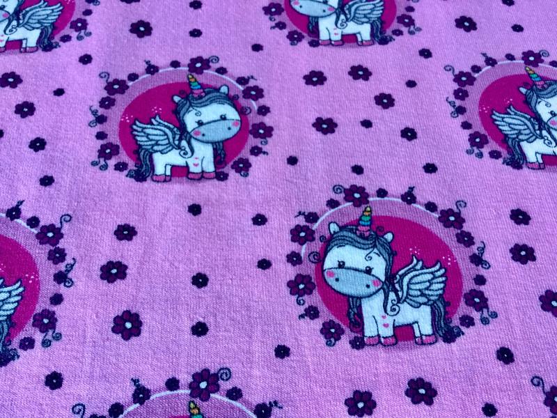 0 5 m Jersey Einhorn Unicorn rosa pink bunt