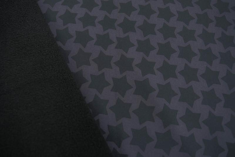 0 5m Softshell Sterne Schwarz grau Staaars Farbenm