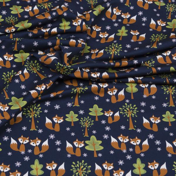 0 5m Sweat Fox Ornaments Fuchs navy gruen