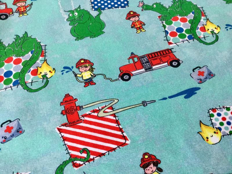 Jersey Feuerwehr mit Drachen grün rot - 3