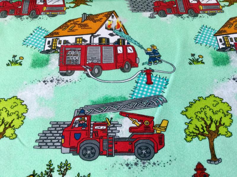 0 5 m Jersey Feuerwehr Brand Haus gruen rot