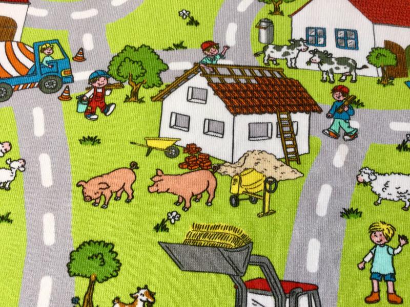 0 5m Jersey Bauernhof Tiere Traktor bunt