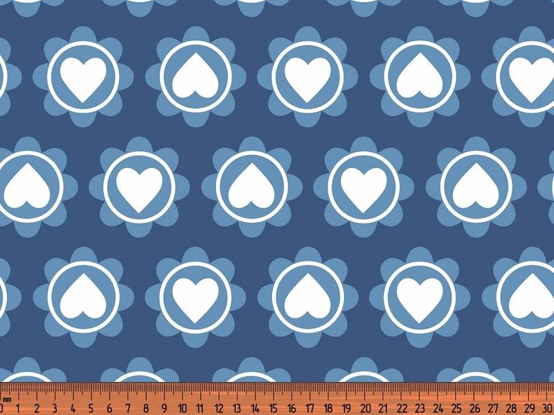 0 5m Jersey Retro Heart jeans blau blue
