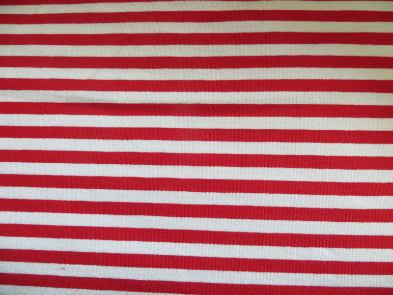 0 5m Ringel Jersey Streifen rot weiss 10mm Puedile