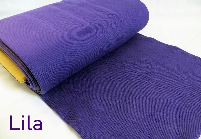0,5m Bündchen Bibi lila purple 510 - 1