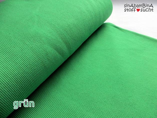 0,5m Bündchen Bibi grün tanne grasgrün 407 - 1