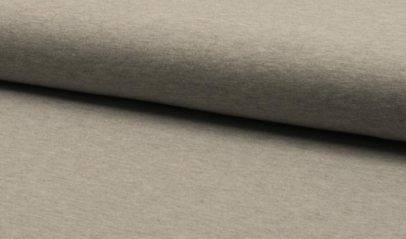0,5m Baumwoll Jersey uni hellgrau 302 grau grey - 1