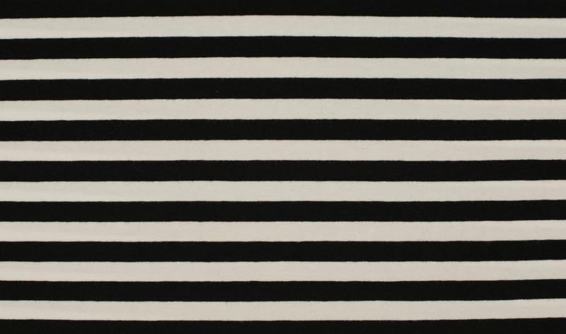 05m Ringel Jersey Streifen schwarz weiß - 1