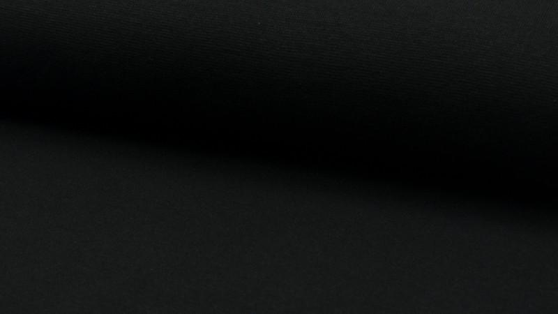05m Bündchen glatt schwarz black 003 - 1