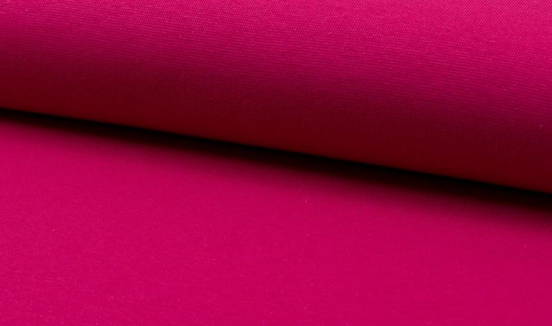 0,5m Bündchen fuchsia dunkel pink glatt - 1