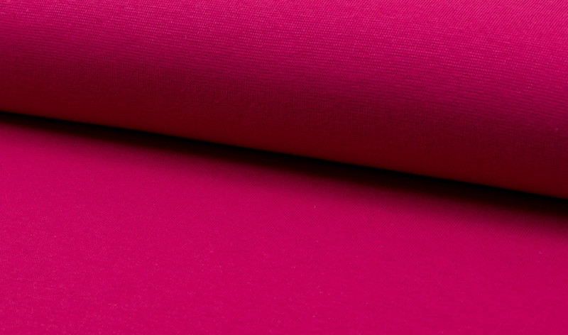 05m Bündchen glatt fuchsia dunkel pink