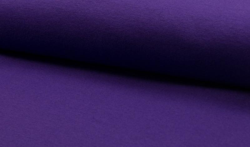 0,5m Bündchen lila flieder glatt - 1