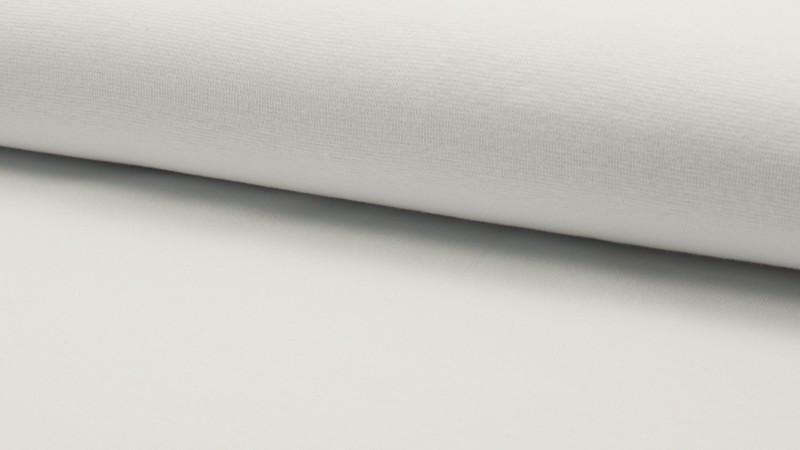 05m Bündchen uni weiß glatt