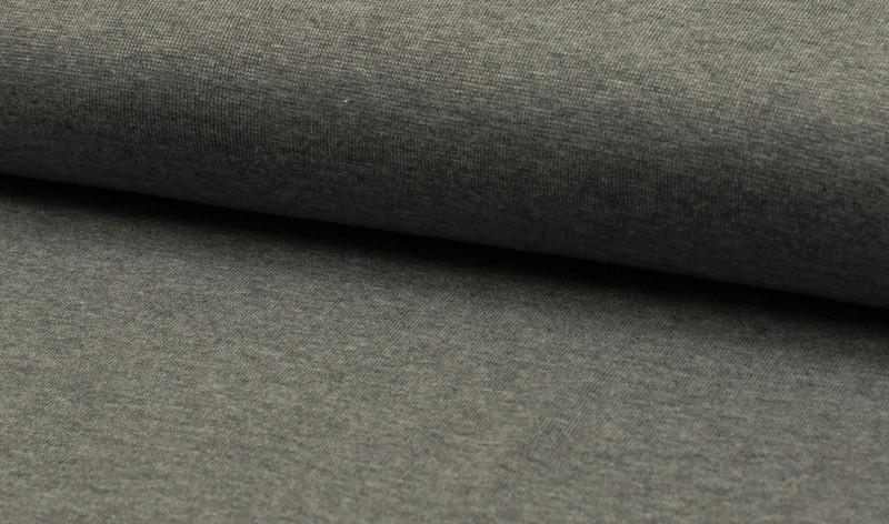 0,5m Bündchen dunkelgrau meliert anthrazit glatt