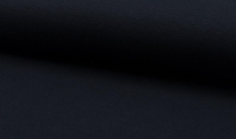 0,5m Bündchen glatt dunkelblau navy