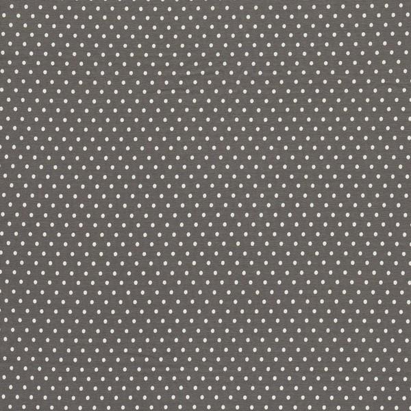 0,5m Jersey Jerseydots Mini Punkte grau weiß - 1