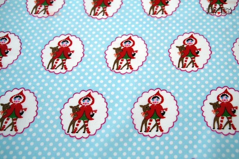 05m Beschichtete Baumwolle Little Red blau