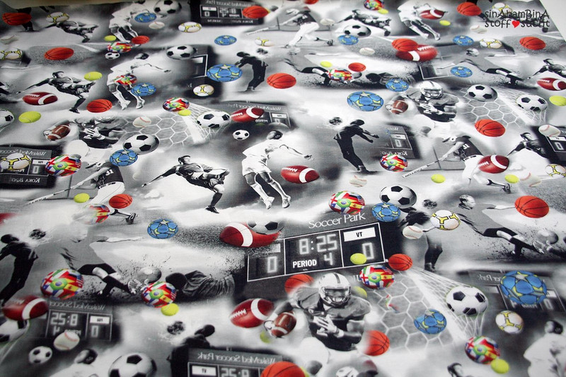 0,5m Jersey Digitaldruck Ball Sport Jungs cool