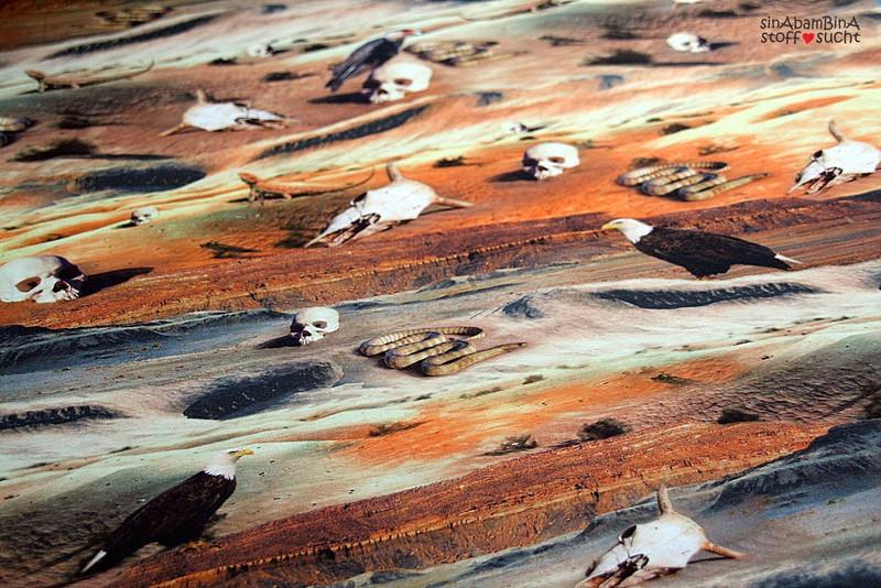 05m Jersey Digitaldruck Unter Geiern Wüste - 1