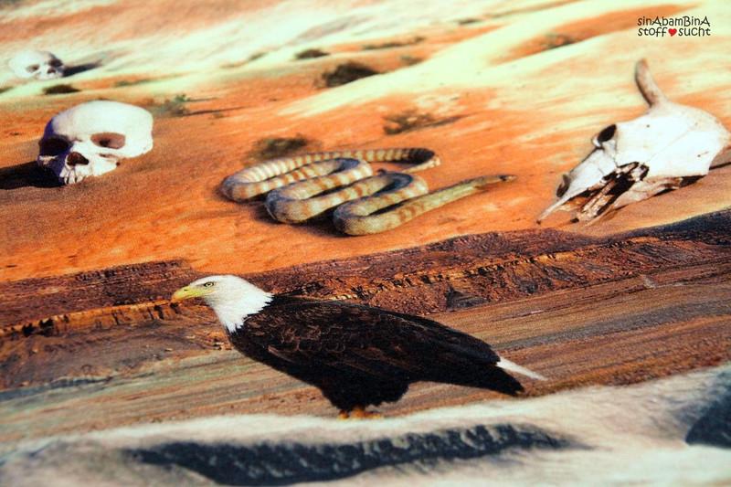 05m Jersey Digitaldruck Unter Geiern Wüste - 3