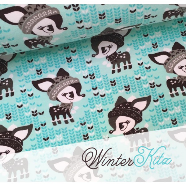 05m Sweat Winterkitz Rehe Nikiko aqua