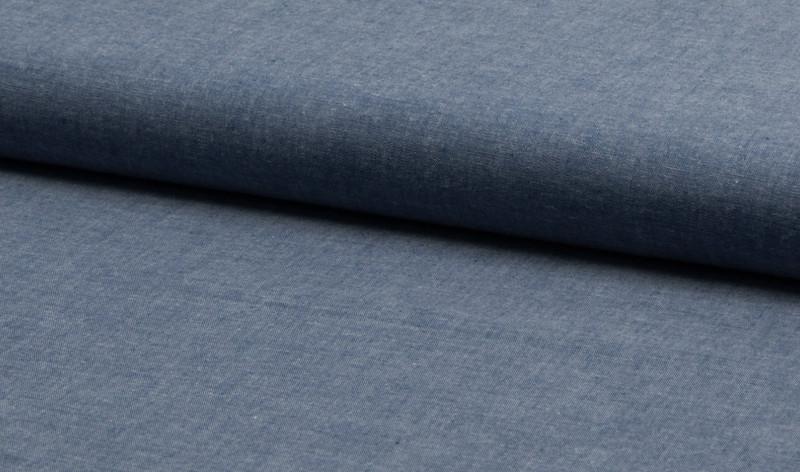 0 5 m Blusen Jeans Baumwolle Chambrai schwarz