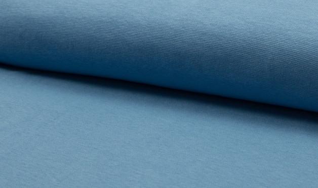 0,5m Bündchen dusty Blue Jeansblau glatt