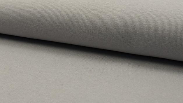 0,5m Bündchen glatt silber hellgrau grey - 1