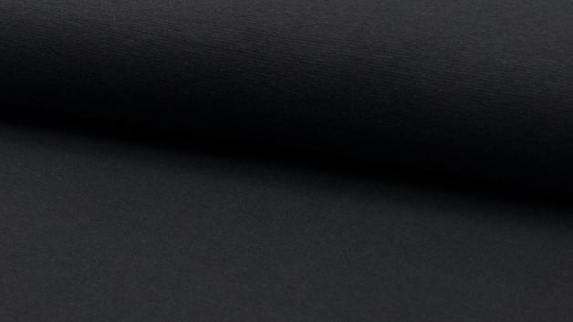 05m Bündchen glatt dunkelgrau anthrazit grey - 1
