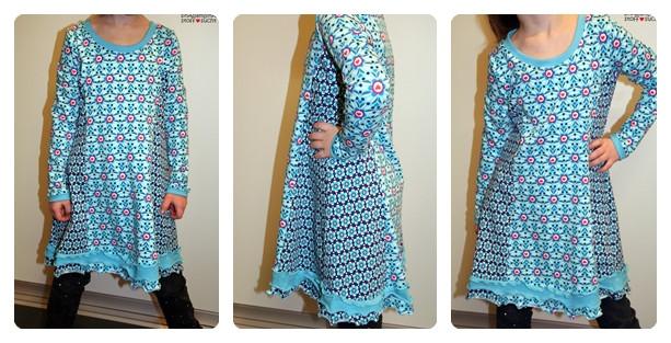 Schnitt Kiara Farbenmix Kleid Tunika Longpulli