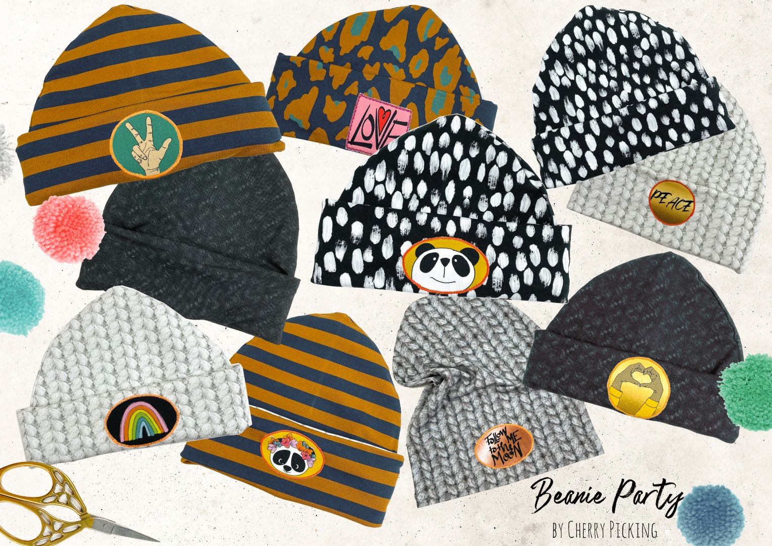 Panel Beanie Party Cherry Picking Modalsweat