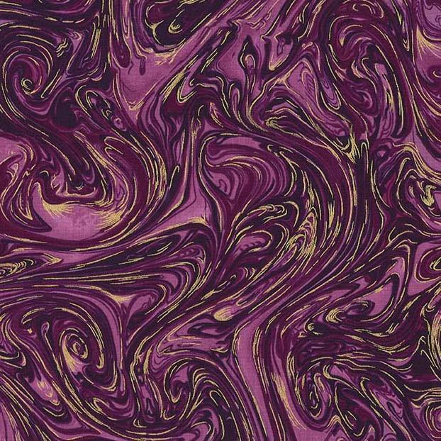 05m BW Marble Metallic Aubergine aubergine