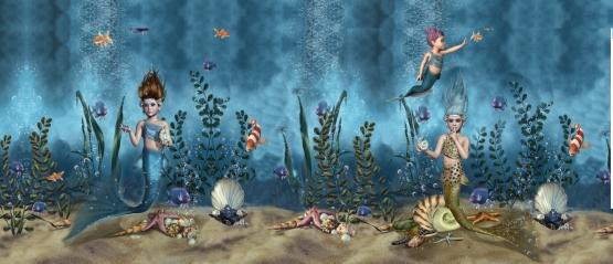 05m Jersey Mermaids Meerjungfrauen Fische bunt