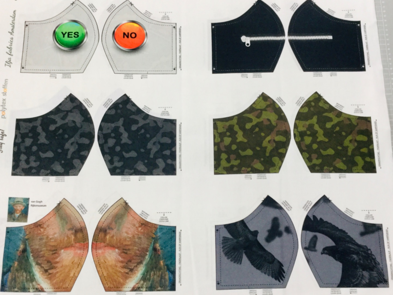 1 Panel Masken for Men Baumwolle