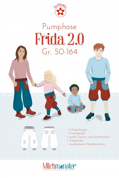 1Stk Frida Pumphose Kinder Papier Schnittmuster