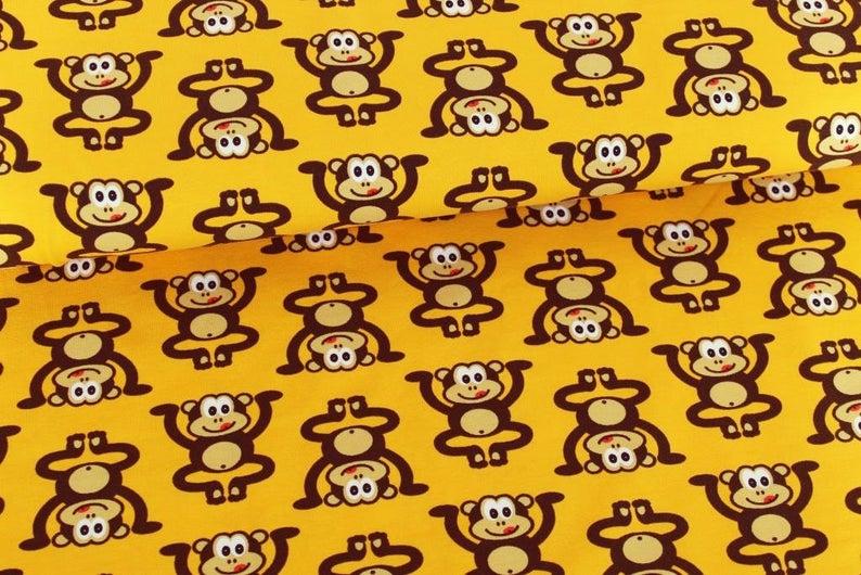 05m Jersey Affen Kopfstand sonnengelb braun