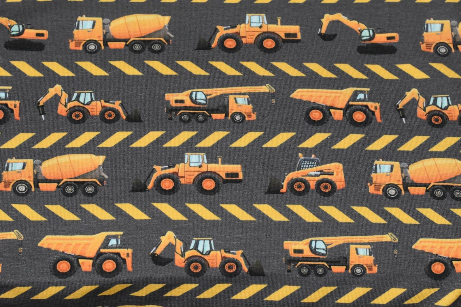 05m Jersey Baustellenfahrzeuge in der Reihe