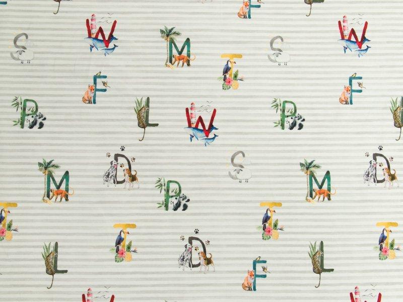 05m Jersey Streifen mit Buchstaben und