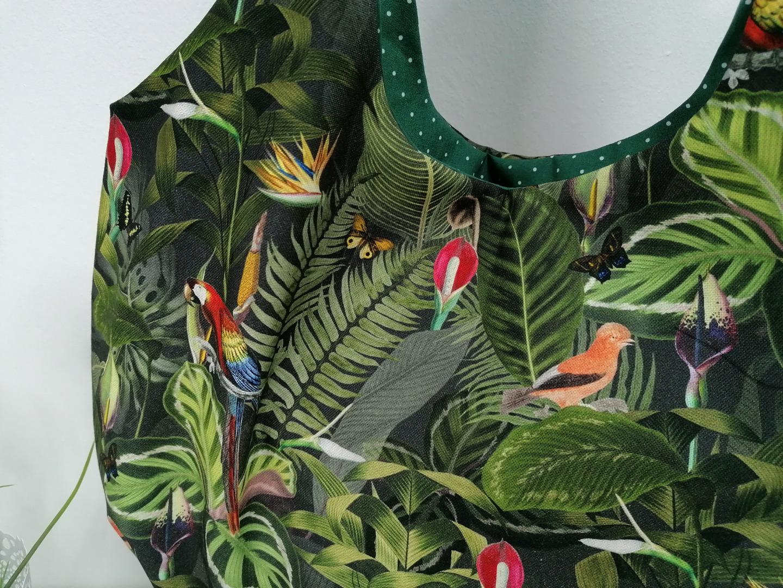 Materialpaket DIY Einkaufstasche Shopper Heinrich Dschungel