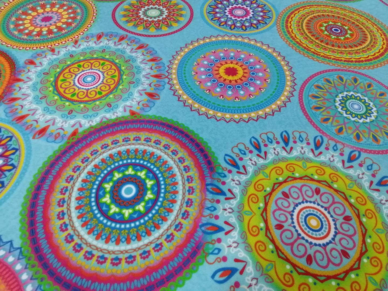 05m Dralon Outdoorstoff teflonbeschichtet Digitaldruck Mandala