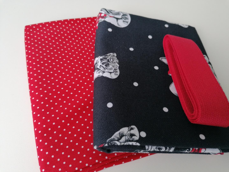 Materialpaket DIY Einkaufstasche Shopper Heinrich Hund